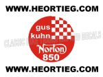 Gus Kuhn Norton 850 Tank and Fairing Transfer Decal  DGK1-40 Red